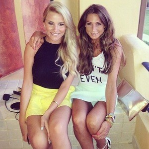 Grace Andrews and Georgia Kousoulou, TOWIE, Marbella, 11 June