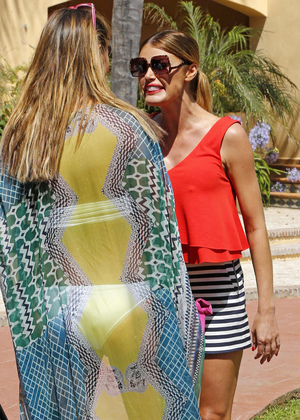Chloe Sims and Ferne McCann have an argument in 'The Only Way Is Essex' in Marbella, Spain - 14 Jun 2014