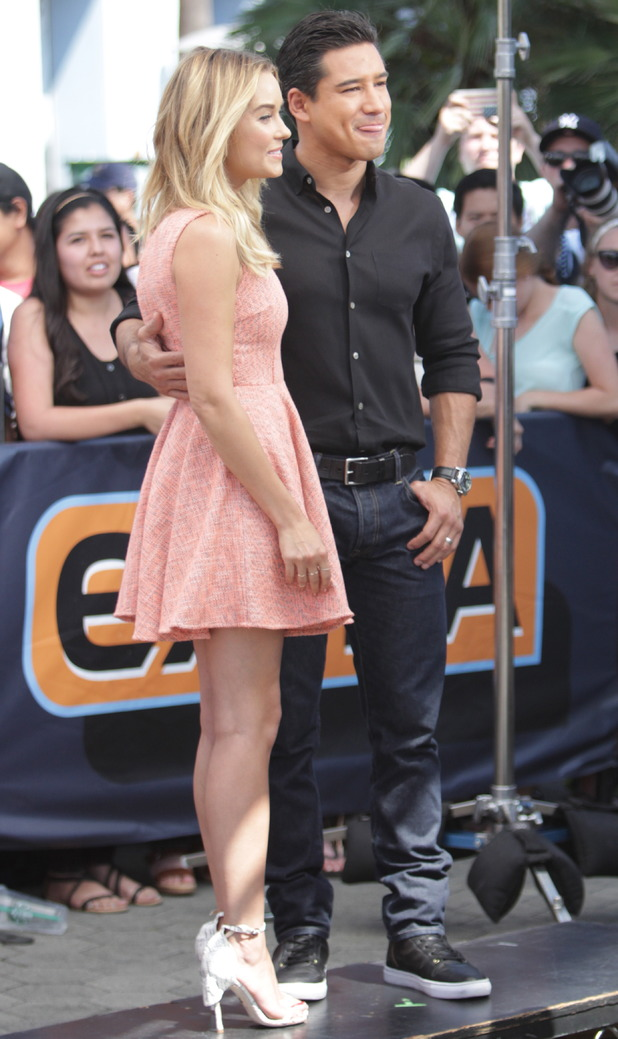 The Hills' Lauren Conrad appears on Extra - 9 June 2014