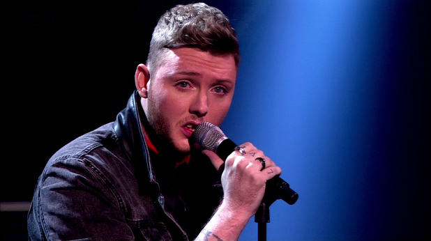 James Arthur is seen performing on 'X Factor' Shown on ITV1 HD. 5 November 2012.
