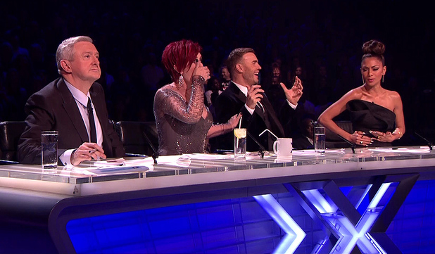 The X Factor, Shown on ITV1 HD - Louis Walsh, Sharon Osbourne, Gary Barlow and Nicole Scherzinger - 10 December 2013.