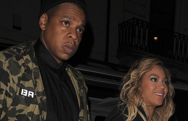 JAY Z and Beyonce arriving at The Arts Club