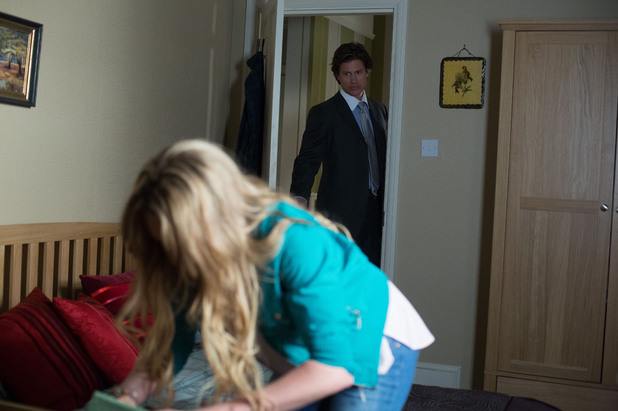 EastEnders, Aleks catches Roxy snooping, Fri 13 Jun