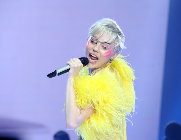 Miley Cyrus performing live on stage on 'The Bangerz Tour' concert at Forum di Assago, 8 June 2014