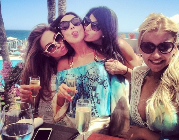 TOWIE girls poolside in Marbella, Instagram - Fran Parman, 8 June