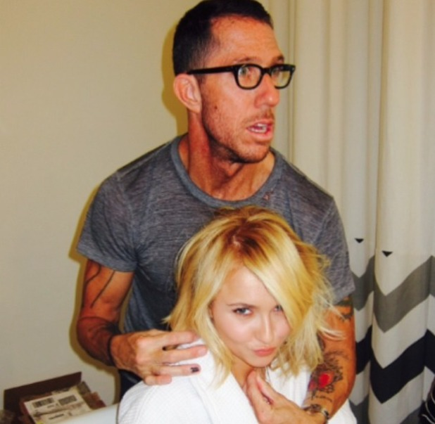 Hayden Panettiere gets a shaggy bob, courtesy of hairdresser Chris McMillan, Beverly Hills, 8 June 2014