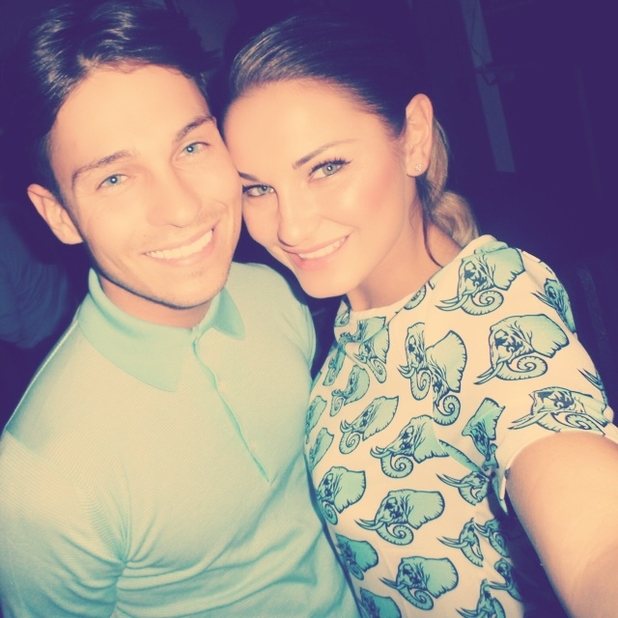 Samantha Faiers poses with boyfriend Joey Essex, 8 June 2014