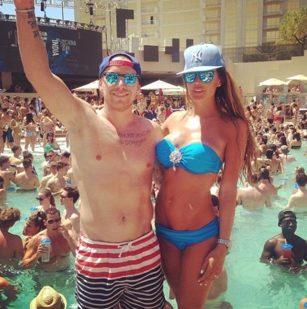 Danielle Lloyd and husband Jamie in Vegas, Jun 14.