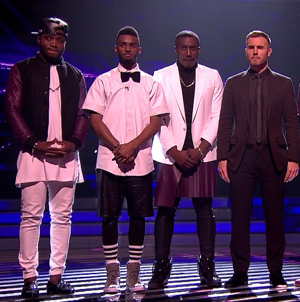 X Factor live shows - Kingsland Road, Gary Barlow, Rough Copy - 20 October 2013.