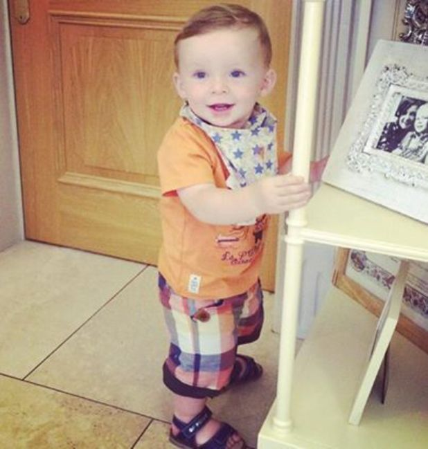 Coleen Rooney shares a picture of Klay taking his first steps - 12 June 2014