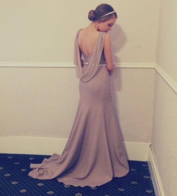 Emmerdale's Eden Taylor-Draper wears an Enais Chapman dress for her prom - 10 May 2014