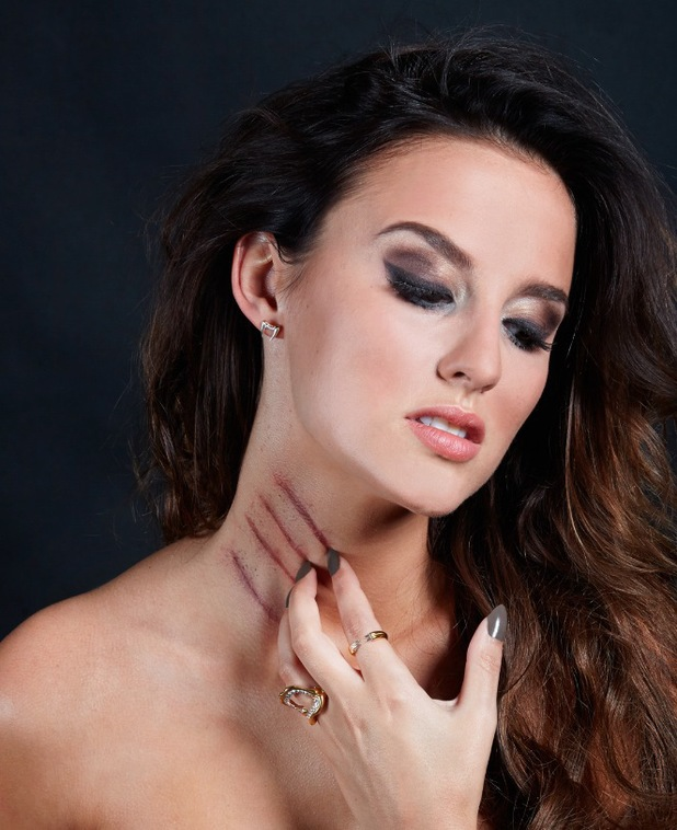 Lucy Watson poses for campaign pictures to promote her new Creature jewellery collection - 10 June 2014
