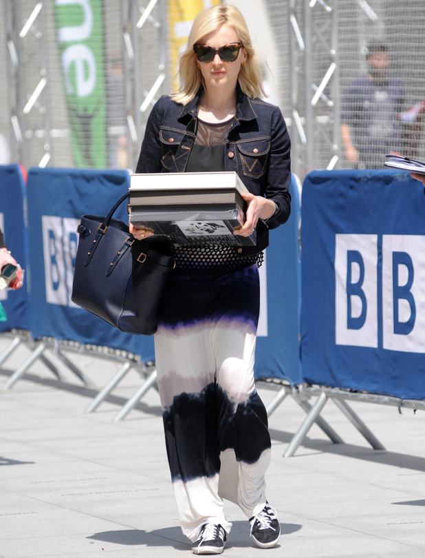 Fearne Cotton at Radio1, 9 June 14.