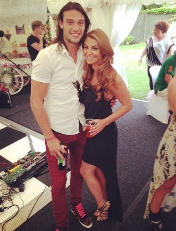 TOWIE's Billi Mucklow joined by boyfriend Andy Carroll and friend Cara Kilbey at birthday party - 10 June 2014