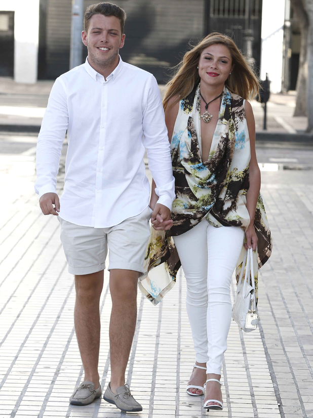 'The Only Way Is Essex' cast in Marbella, Spain - 12 Jun 2014 James Bennewith and Francesca Parman