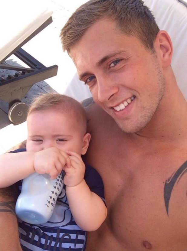 Dan Osborne and son Teddy, 'The Only Way Is Essex' cast in Marbella, Spain - 14 Jun 2014