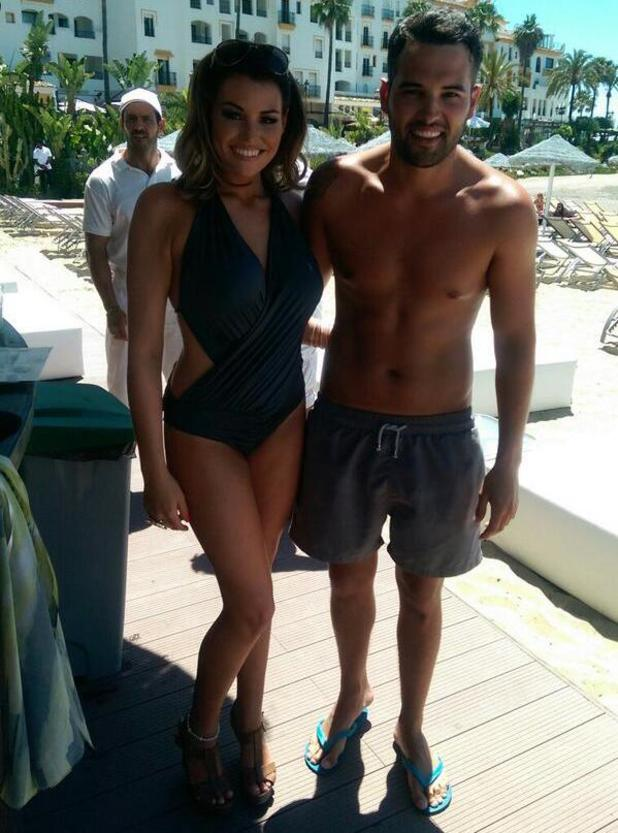 TOWIE's Jessica Wright and Ricky Rayment relax by the pool in Marbella - 9 June 2014