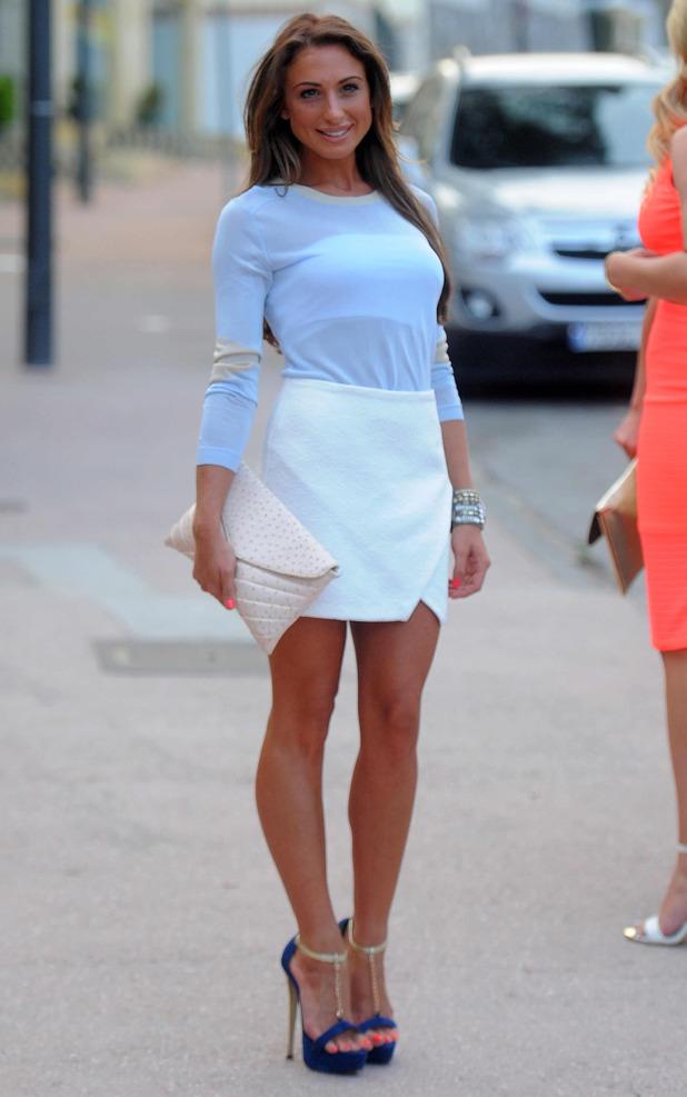 TOWIE's Grace Andrews goes for dinner in Marbella, Spain - 10 June 2014