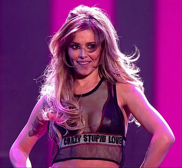 Cheryl Cole performing on Britain's Got Talent final, June 2014