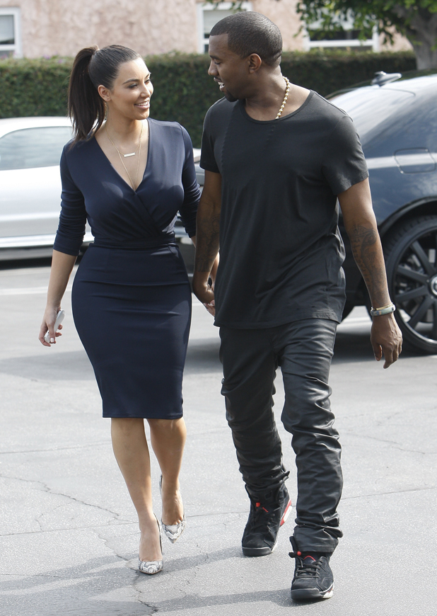 Kim Kardashian and Kanye West head out to lunch in Beverly Hills after attending the grand opening of Dash Los Angeles, California - 13.07.12