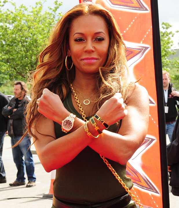 Melanie Brown aka Mel B, The X Factor auditions Manchester, England - 06.06.12