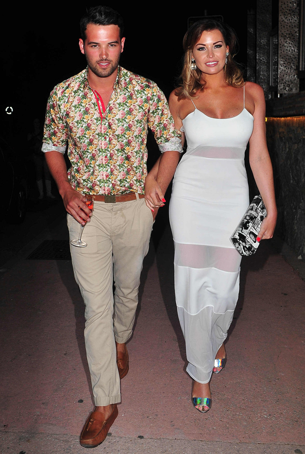 Ricky Rayment and Jessica Wright, 'The Only Way Is Essex' cast in Marbella, Spain - 10 Jun 2014