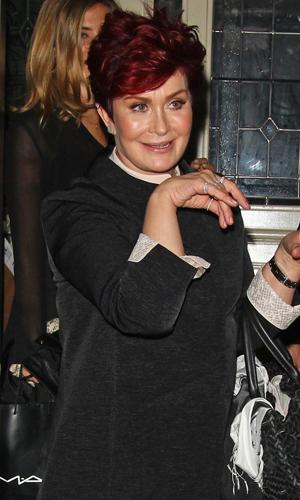 Sharon Osbourne leaving Soho Townhouse in London, 9 June 2014