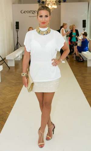 TOWIE's Ferne McCann at the AW14 George catwalk show (18 June).