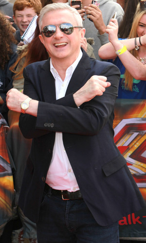 Louis Walsh arrives at Old Trafford stadium for 'The X Factor' Manchester auditions - 16 June 2014