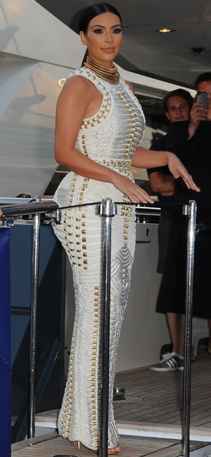 Newlywed Kim Kardashian attends MailOnline's yacht party during Cannes Lions 2014 - Arrivals - 18 June 2014
