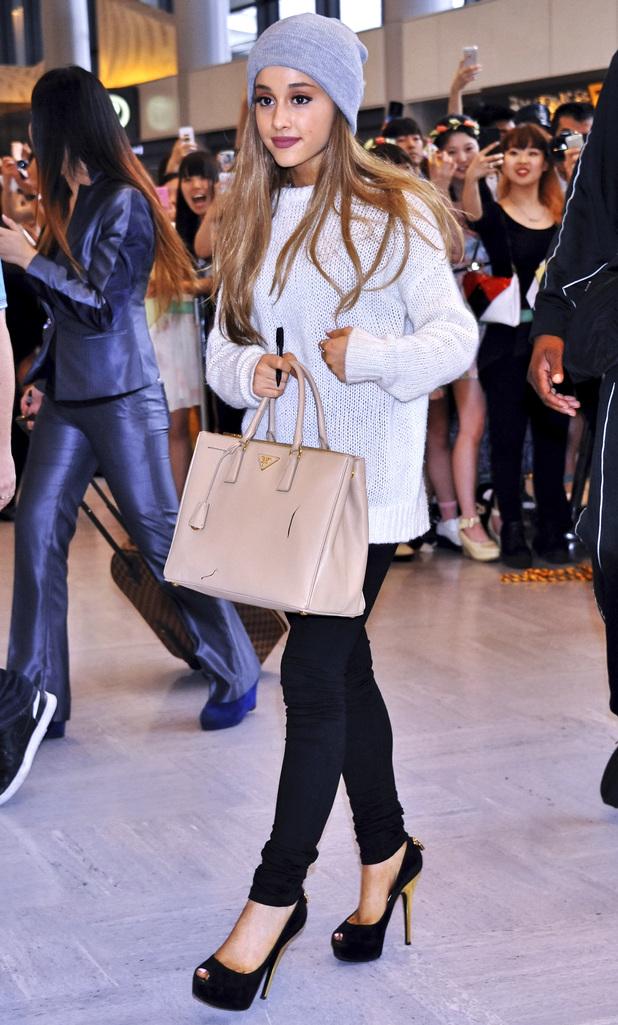 Ariana Grande arrives at Narita International Airport in Japan - 17 June 2014