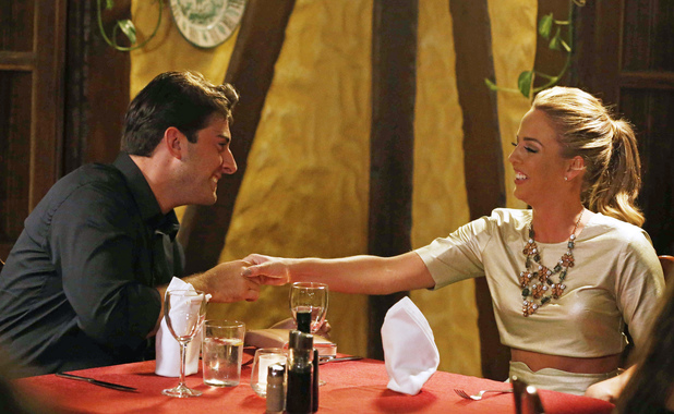 'The Only Way Is Essex' cast in the old town, Marbella, Spain - 13 Jun 2014 James 'Arg' Argent and Lydia Bright on a date