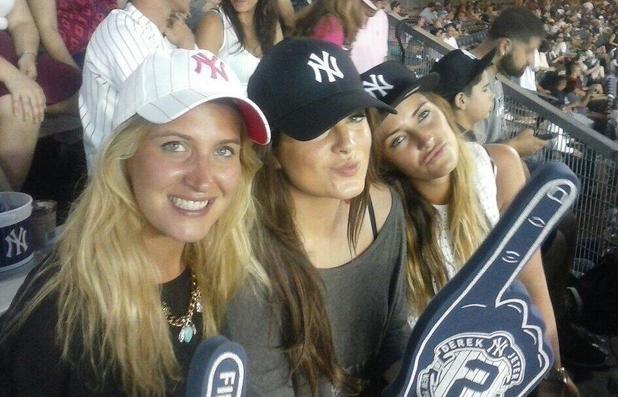 Made In Chelsea's Binky Felstead, Cheska Hull, Francesca Newman-Young attend a New York Yankees baseball game - 19 June 2014