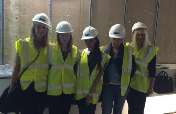 Victoria Beckham shares picture from building site of her new shop in London, 20 June 2014