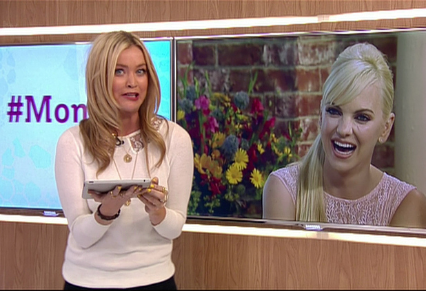 Laura Whitmore presenting on This Morning, Shown on ITV1 HD, 17 June 2014