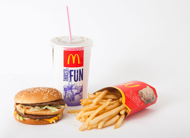 McDonald's Big Mac, drink and fries