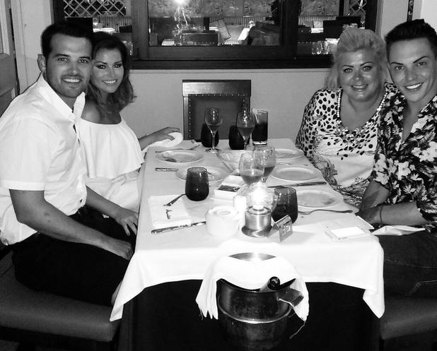 TOWIE's Bobby Norris joins Ricky Rayment, Jessica Wright, Gemma Collins for dinner in Marbella following Harry Derbidge row claims - 16 June 2014