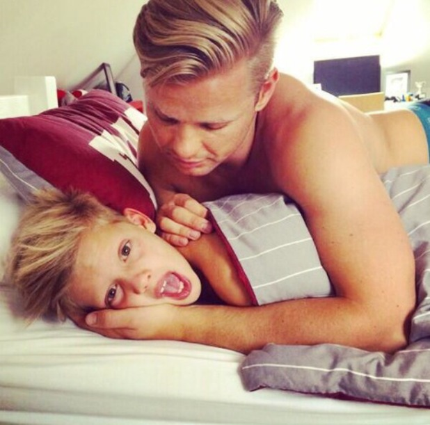Jeff Brazier shares a rare photograph of his youngest son Freddie on Twitter - 16 June 2014