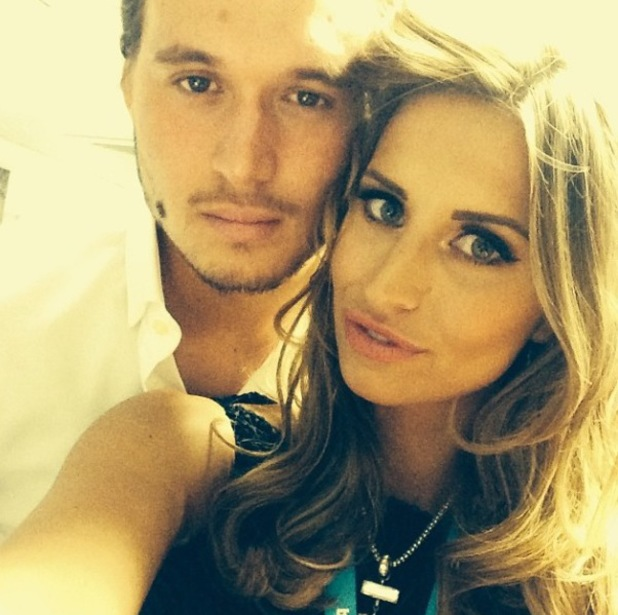 TOWIE's Ferne McCann and Charlie Sims pose in selfie (1 June).