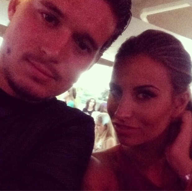 TOWIE's Ferne McCann poses for selfie with Charlie Sims following recent relationship troubles in Marbella (15 June).