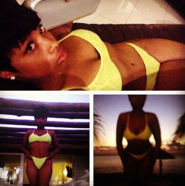 Jennifer Hudson shows off bikini body while in Mexico, June 2014