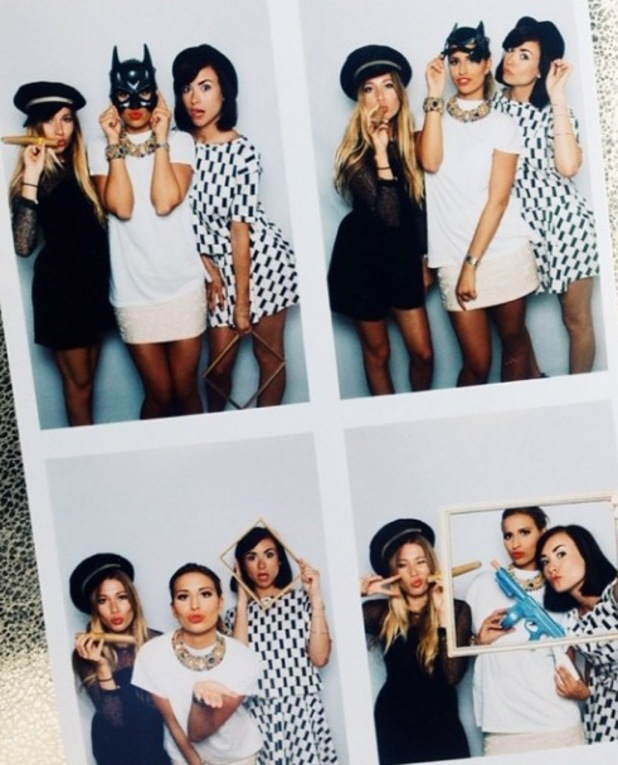 TOWIE's Ferne McCann hits the photo booth with co-stars Robyn Althasen and Imogen Leaver at the  AW14 George catwalk show (18 June).
