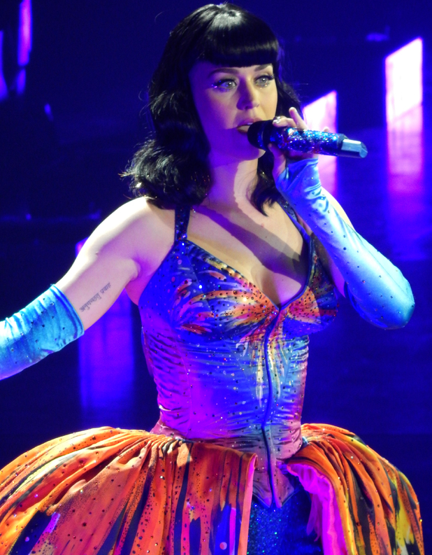 Katy Perry performs live at London's O2 Arena during the first of five nights in the city with The Prismatic World Tour - 27/5/2014.