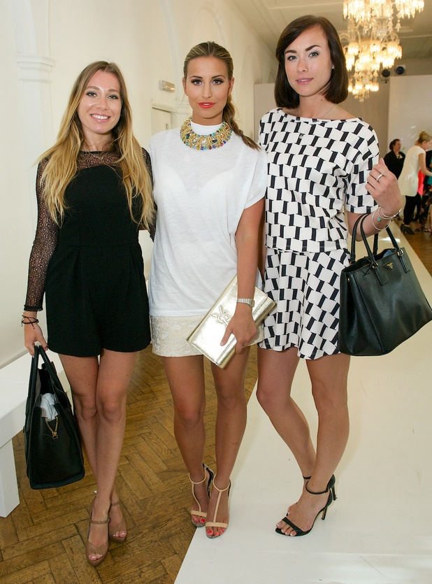 TOWIE's Ferne McCann, Robyn Althasen and Imogen Leaver at the AW14 George catwalk show (18 June).