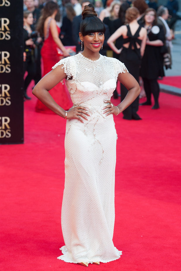Alexandra Burke attends the Olivier Awards 2014 in London, England - 13 April 2014