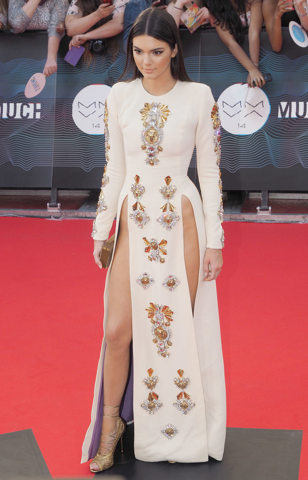 Kendall Jenner wears side-slit dress at the MuchMusic Video Awards 2014 in Toronto, Canada - 15 June 2014