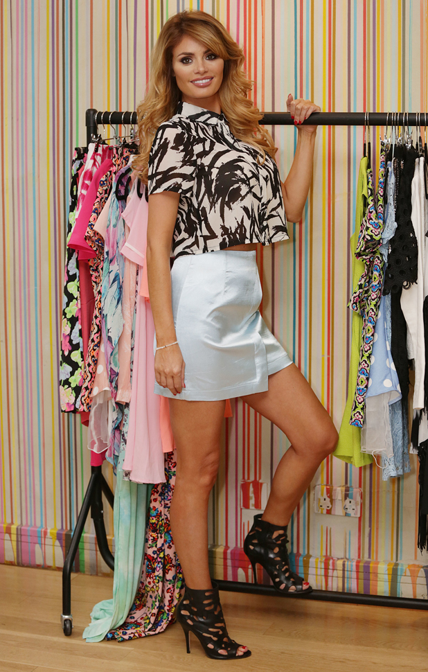 Chloe Sims launches her debut fashion collection for online retailer Lasula at the Groucho Club, 19 June 2014