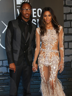 Ciara and Future, The 2013 MTV Video Music Awards - Arrivals at the Barclays Center, 2013