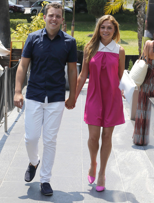 James 'Diags' Bennewith and Francesca Parman, The Only Way Is Essex' cast in Marbella, Spain - 15 Jun 2014