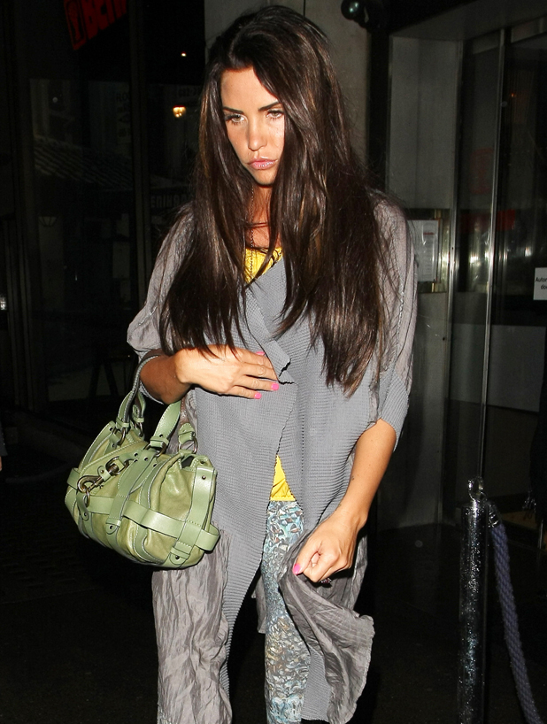 Katie Price leaves Benihana Sushi restaurant, London, England - 24.08.12